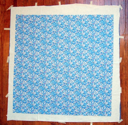 Windowpane Wholecloth Baby Quilt | Purl Soho