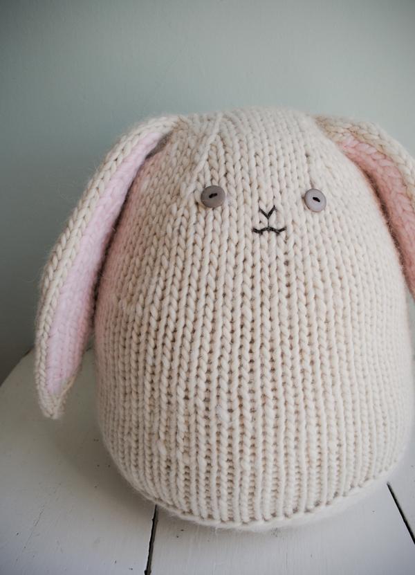 Knitting Pattern Rabbit Ears : Big cuddly bunny purl soho