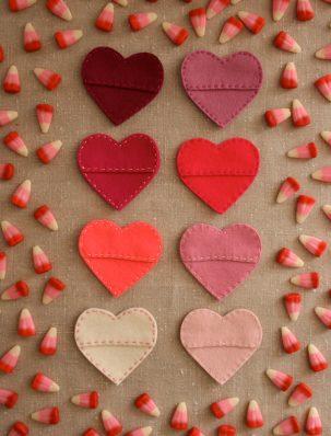 Felt Candy Hearts | Purl Soho