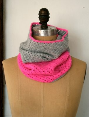 Two-Color Crocheted Cowl | Purl Soho