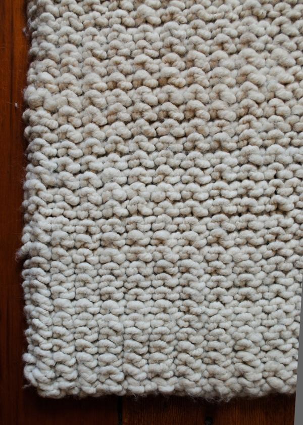 Knitted Rugs Free Patterns : Big Stitch Knit Rug Purl Soho