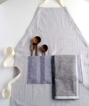 A New Adjustable Unisex Apron and Simple Dishtowels | Purl Soho