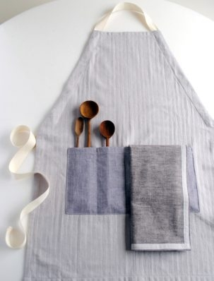 A New Adjustable Apron + Simple Dishtowels | Purl Soho