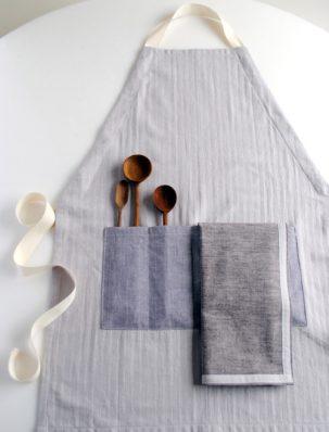 A New Adjustable Apron + Simple Dishtowels | Purl Soho