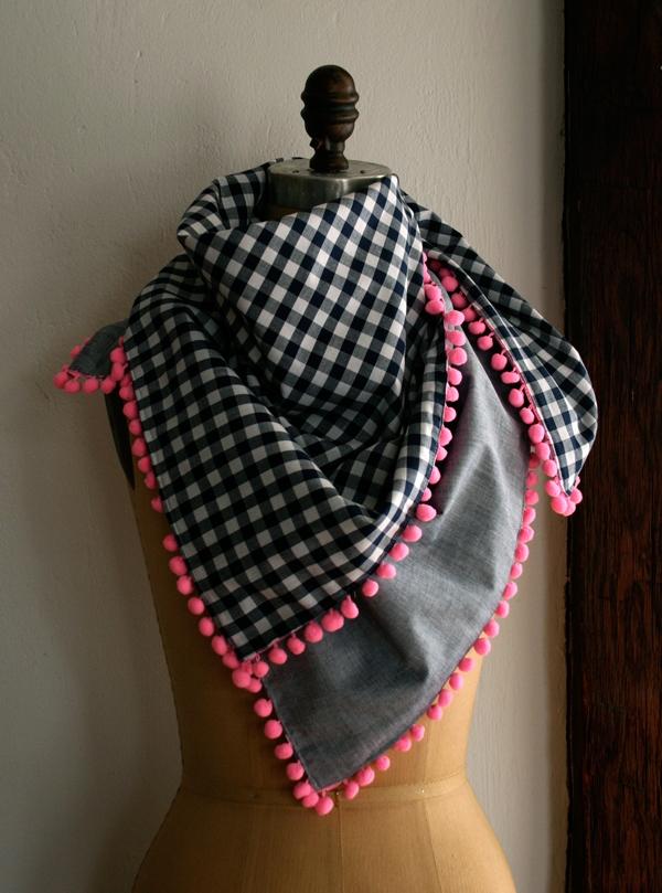 Knitting Pattern For Scarf With Pom Poms : Pom Pom Scarf Purl Soho