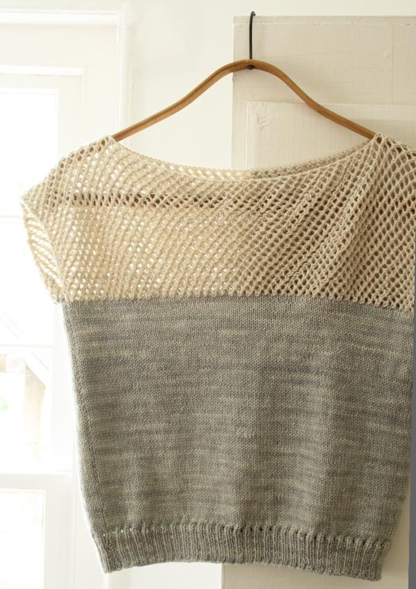 Knitting Loop Structure : Cap sleeve lattice top purl soho