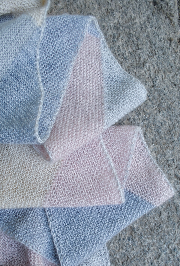 Knitting Pattern For Entrelac Shawl : Just Triangles Entrelac Scarf Purl Soho