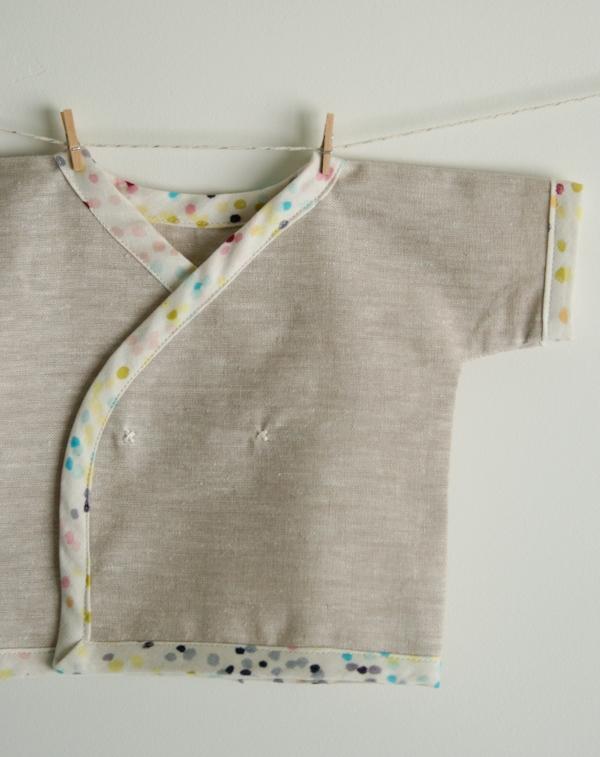 Child s Kimono Knitting Pattern : Newborn Kimono Shirt Purl Soho