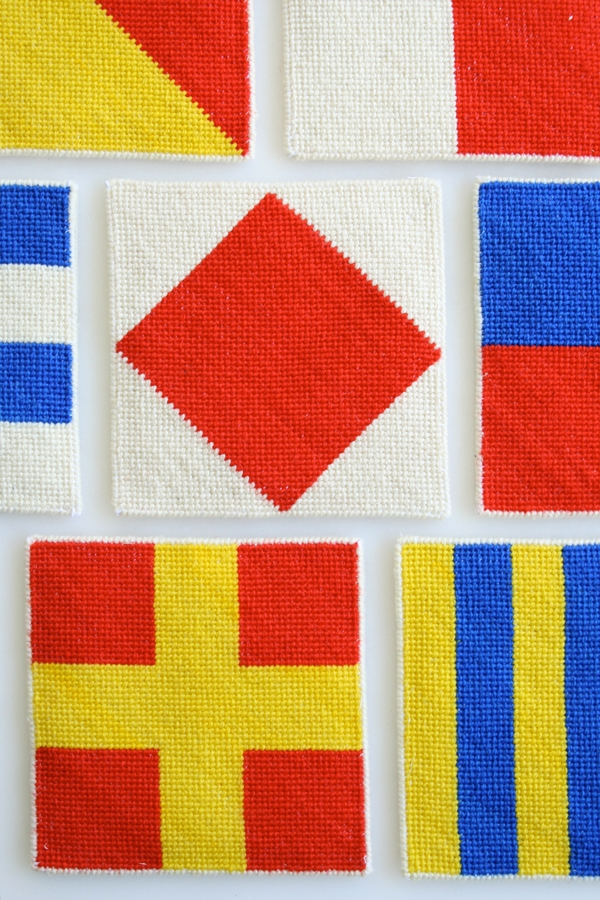 Nautical Needlepoint Coasters | Purl Soho