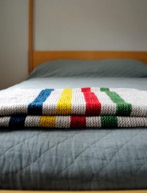 Hudson's Bay Inspired Crib Blanket | Purl Soho