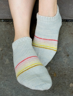 Sporty Striped Socklets | Purl Soho