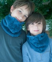 Amy Gropp Forbes of Eclectic Mom: Braided Cowl for Kids | Purl Soho