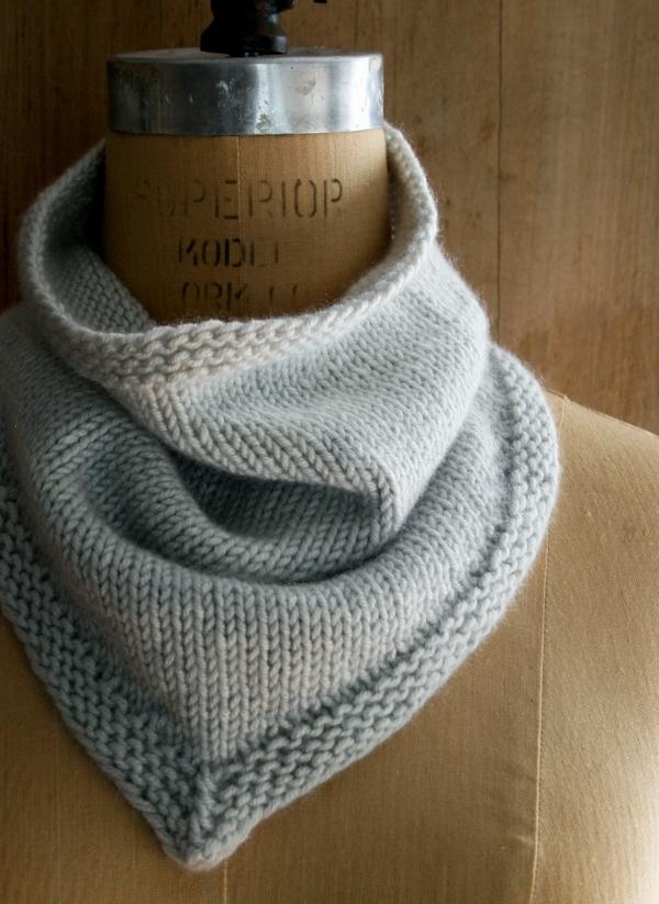 Bandana Cowl Knitting Pattern : New Cashmere Bandana Cowl! Purl Soho