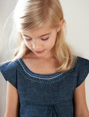 Embroidered Denim Jumper | Purl Soho