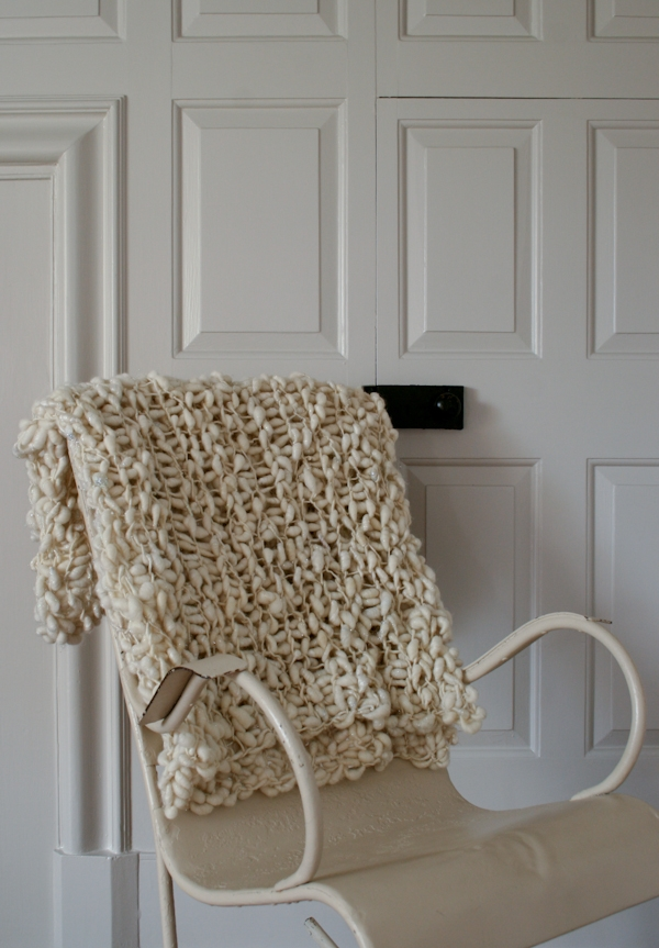 Pixie Dust Lap Blanket in Cool White! | Purl Soho