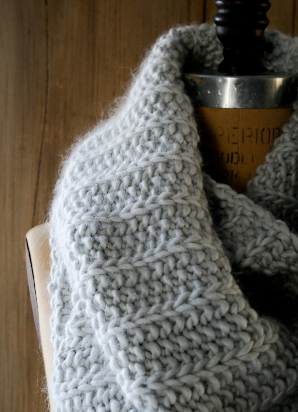 Super Soft Merino Fluted Cowl Purl Soho