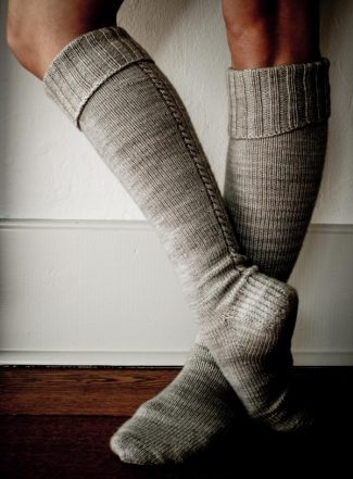 Little Cable Knee Highs | Purl Soho