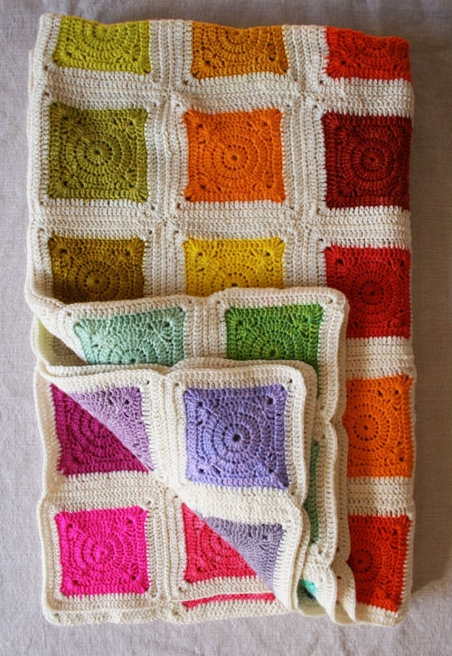 Bear's Rainbow Blanket | Purl Soho