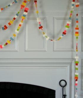 Confetti New Years Garland