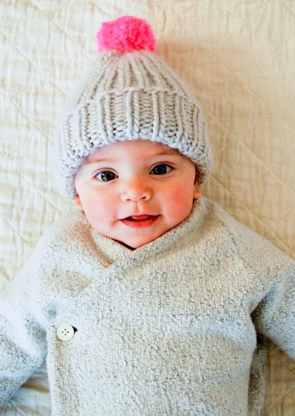 Super Simple Super Soft Merino Baby Hat Purl Soho