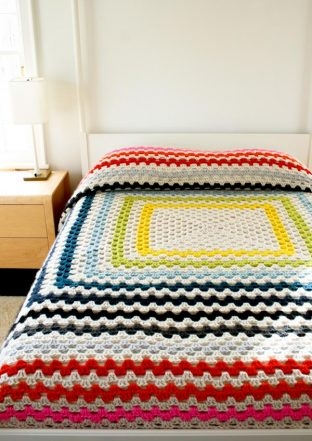Giant, Giant Granny Square Blanket   Purl Soho