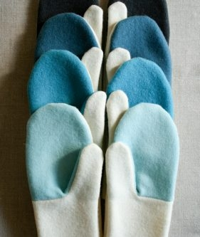 Simple Felted Wool Mittens