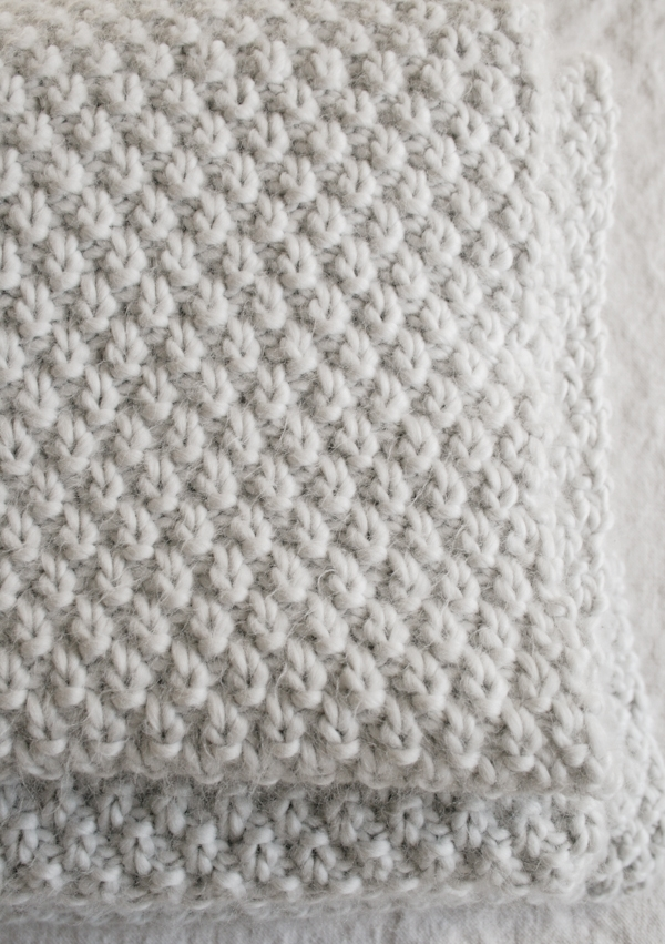 Double Knit Baby Blanket Pattern : Double Seed Stitch Blanket Purl Soho