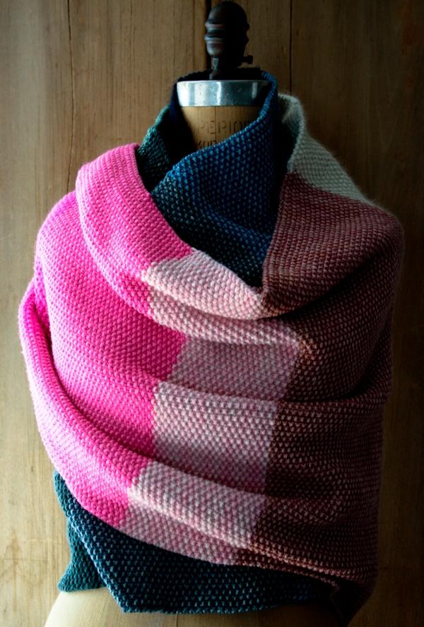 Amazing Seed Stitch Wrap | Purl Soho