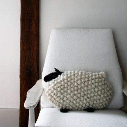 Bobble Sheep Pillow in Super Soft Merino | Purl Soho