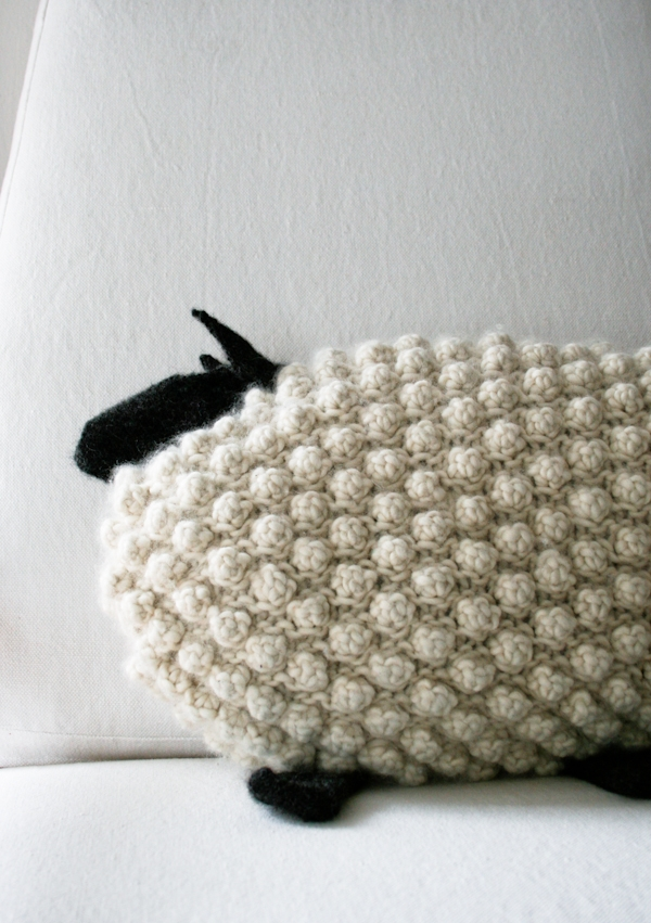 Bobble Sheep Pillow in Super Soft Merino | Purl Soho