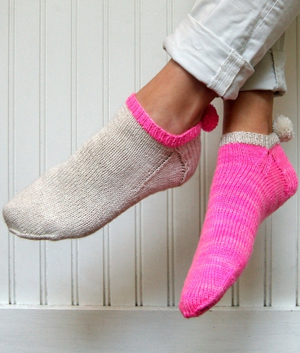 Pom Pom Socklets, now in Anzula! | Purl Soho