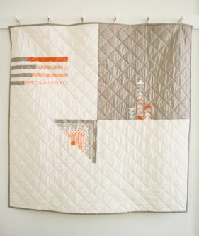 Simple Four Square Quilt