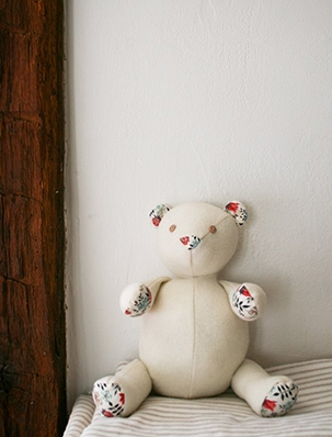 Wool + Liberty Teddy Bear | Purl Soho