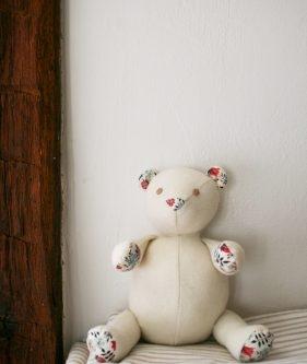 Wool + Liberty Teddy Bear