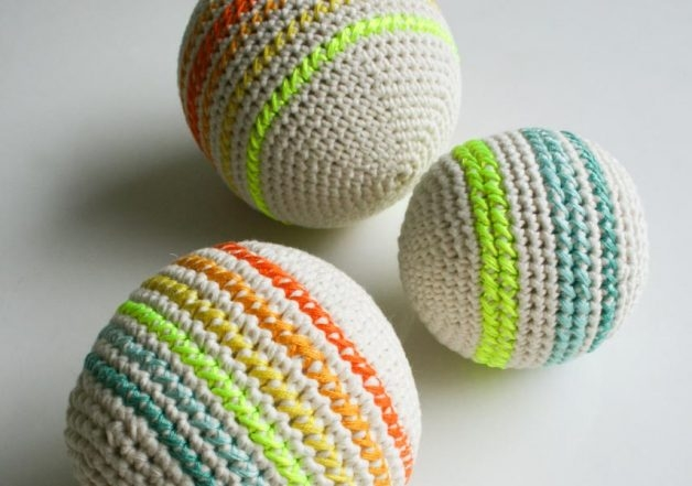 Crocheted Balls Purl Soho