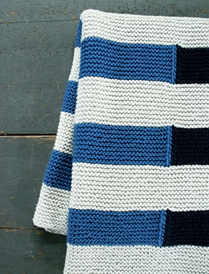 Shadow Stripe Baby Blanket | Purl Soho