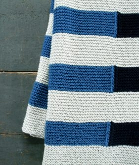 Shadow Stripe Baby Blanket
