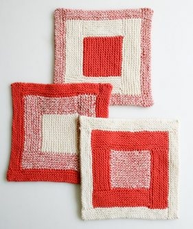 New Log Cabin Washcloths