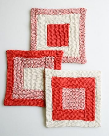 New Log Cabin Washcloths | Purl Soho