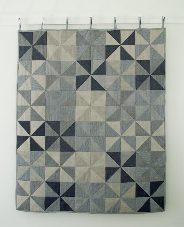 Denim Pinwheel Quilt
