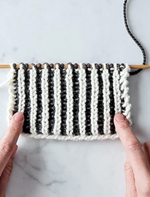 Brioche Stitch: Two-Color Brioche + Fixing Mistakes | Purl Soho