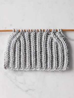 Brioche Stitch: Basic Decreases (bsk2p + bk3tog) | Purl Soho