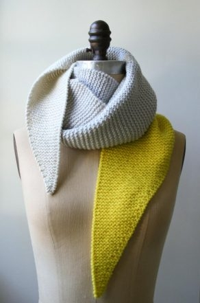 Color Tipped Scarf | Purl Soho