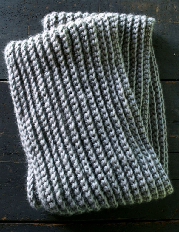 Crocheted Rib Cowl Purl Soho