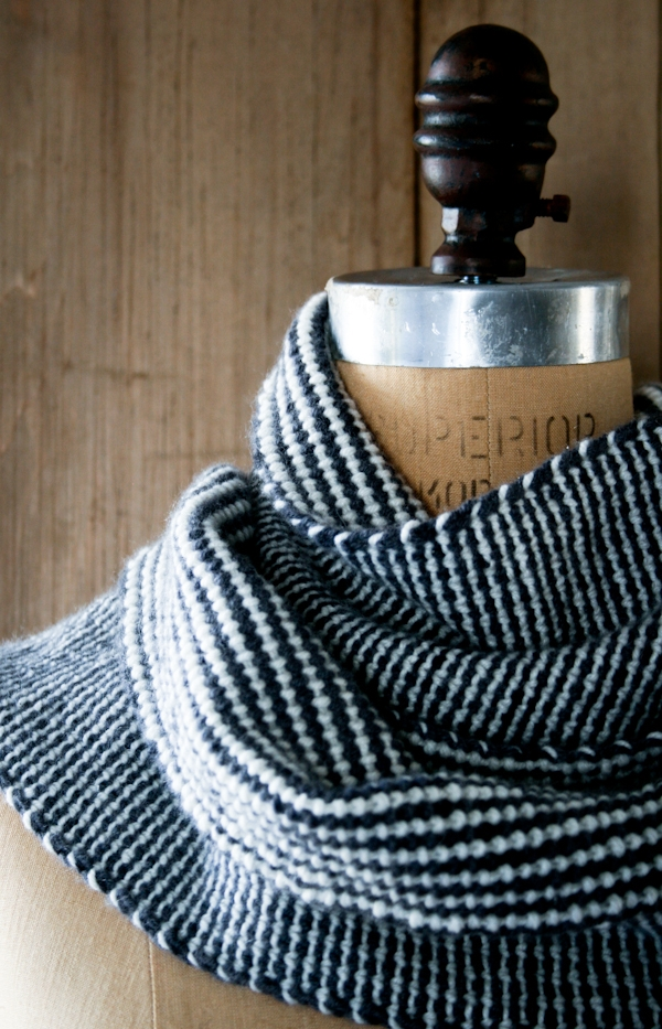 Reversible Stripes Scarf Purl Soho