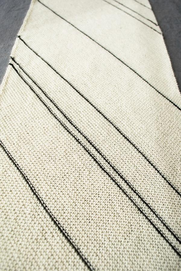 Diagonal Pinstripe Scarf Purl Soho