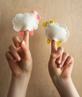 Purl Soho's Little Lamb Finger Puppets