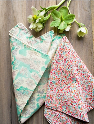 Springtime Running Stitch Napkins | Purl Soho