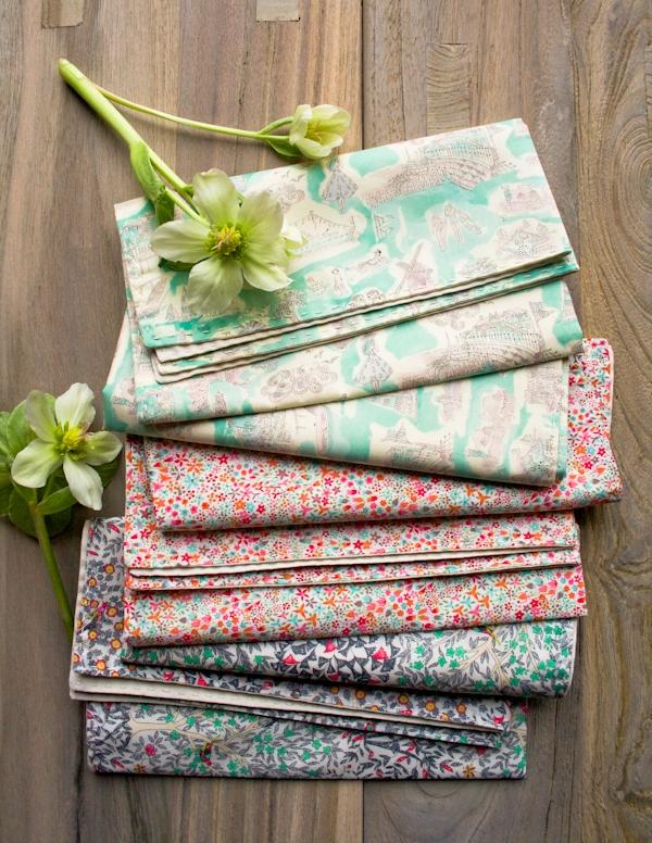 Springtime Running Stitch Napkins
