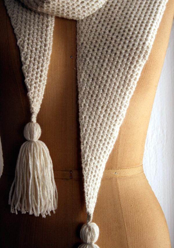Knitting Stitches Ribbing Scarf : Tassel Purl Soho